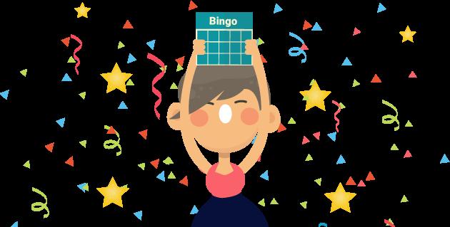 En rigtig glad bingospiller vinder